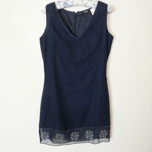 Boutique Europa Navy Blue Dress